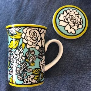 Vera Bradley Tea or Coffee Mug with Lid